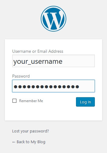 Start Blogging WordPress Login