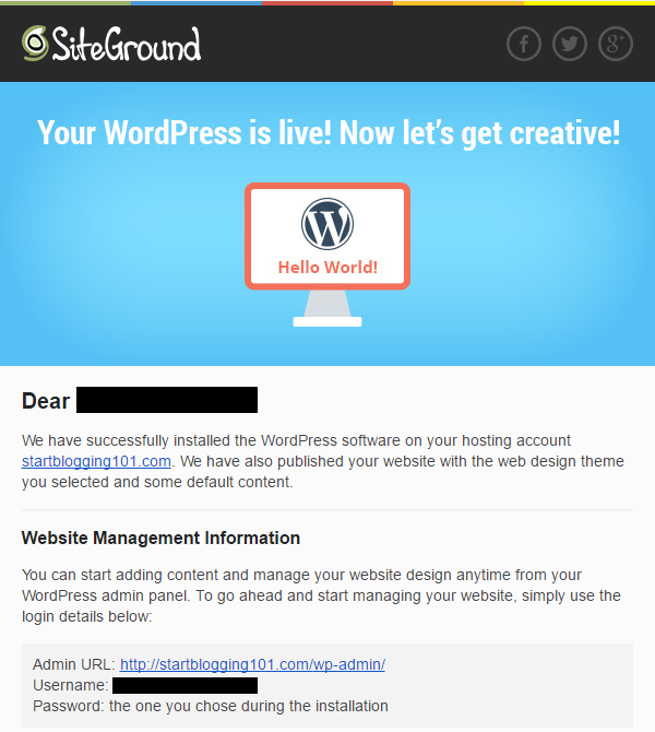 How to Start a Blog WordPress Installed