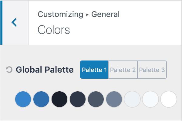 Kadence Theme Global Color Palette