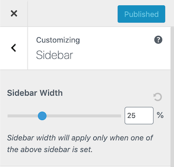 Astra Sidebar Width Options