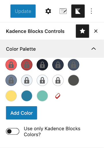 Adding Additional Color Palette Options to Kadence Color Palette
