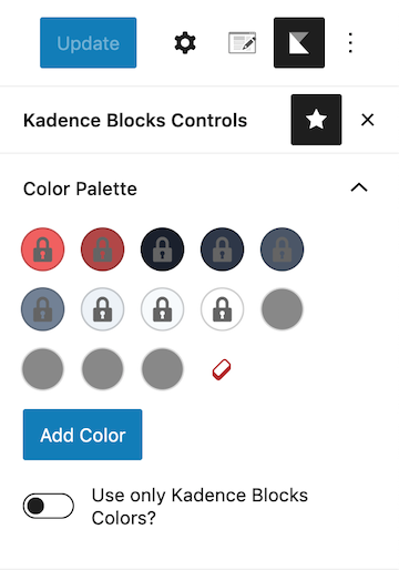 Kadence Blocks Controls Add Additional Colors to Color Palette