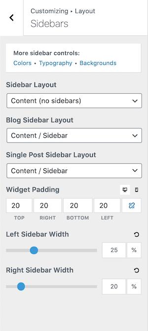 GeneratePress Premium Sidebar Customization Options
