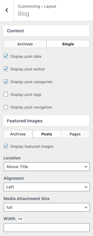 GeneratePress Premium Single Blog Post Layout Options