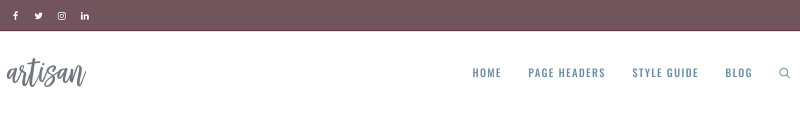 GeneratePress Theme Artisan Starter Template Header Example