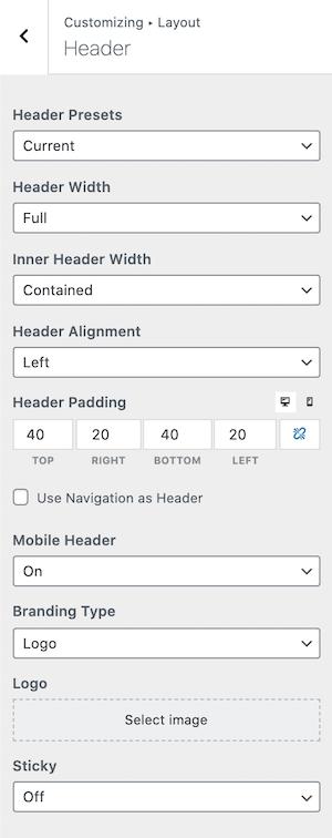 GeneratePress vs Kadence Header Builder Test GeneratePress Version