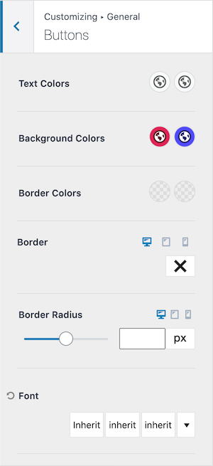 Kadence vs GeneratePress Button Global Colors Kadence Version