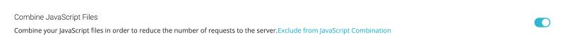 Best SG Optimizer Settings Combine JavaScript Files Enabled