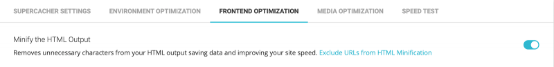 Best SG Optimizer Settings Minify the HTML Output Enabled