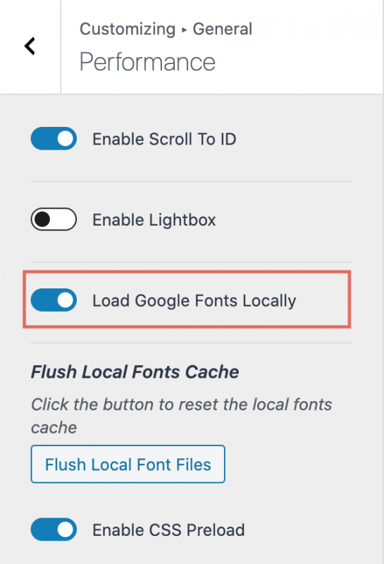 Kadence Theme Performance Load Google Fonts Locally