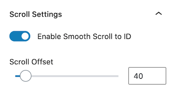 Kadence Table of Contents Block Enable Smooth Scroll to ID