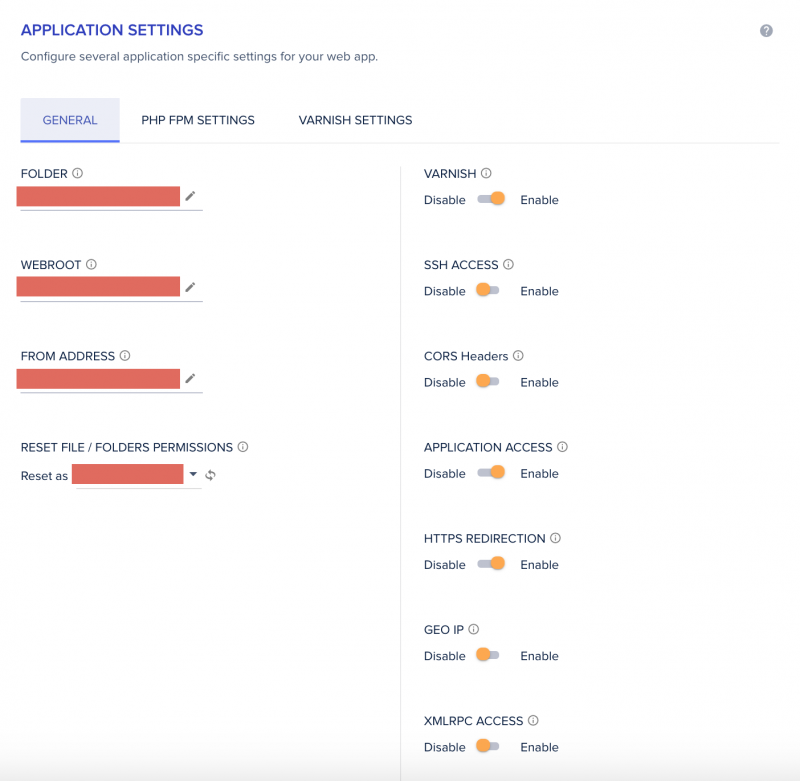 Cloudways Review Control Panel Application Management Application Settings