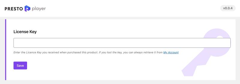 Presto Player Pro WordPress Video Plugin Enter License Key