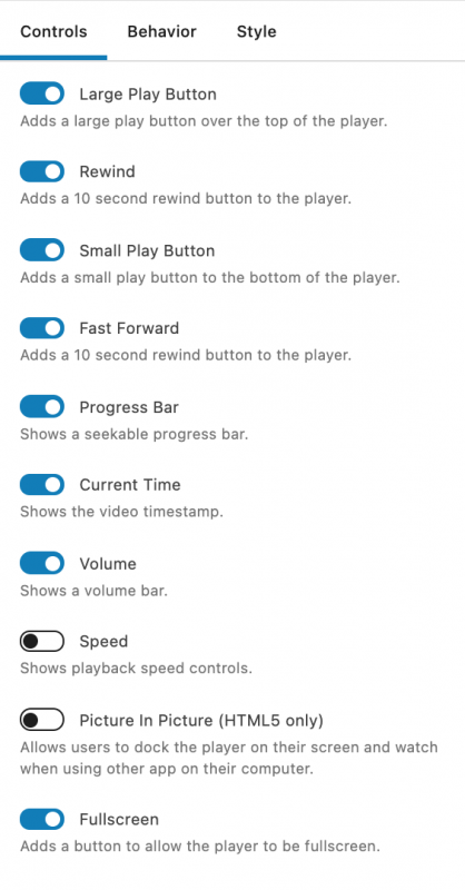 Presto Player Tutorial New Video Preset Controls Options